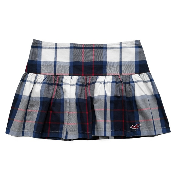 562df77f7 New HOLLISTER Schoolgirl Plaid Beach Mini Skirt 7 NWT